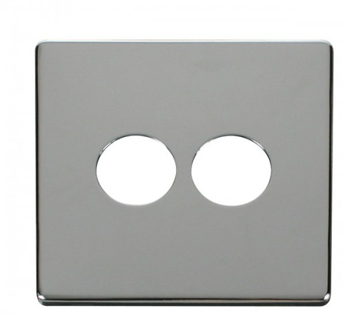 Click Definity Polished Chrome Toggle Switches Cover Plates