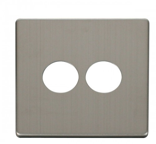 Scolmore Click Definity Stainless Steel Toggle Switches Cover Plates
