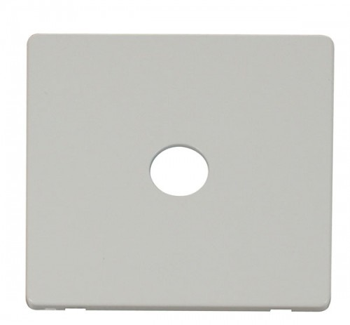 Click Definity Polar White Media Socket Cover Plates