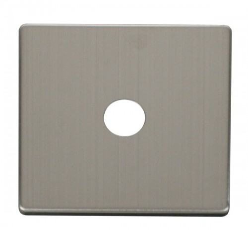 Scolmore Click Definity Stainless Steel Media Socket Cover Plates