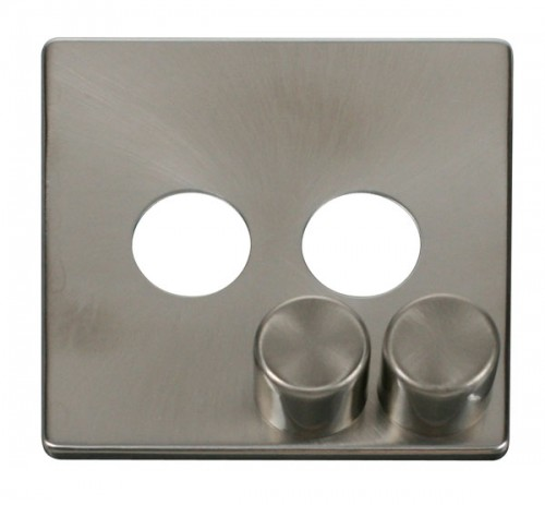 Click Definity Brushed Stainless Dimmer Cover Plates