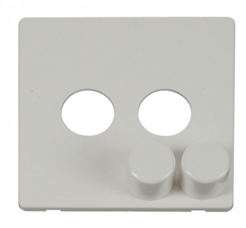 Click Definity Polar White Dimmer Cover Plates