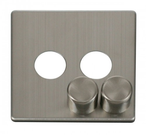 Scolmore Click Definity Stainless Steel Dimmer Cover Plates