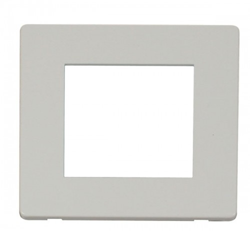 Click Definity Polar White New Media Cover Plates