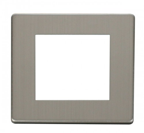 Scolmore Click Definity Stainless Steel New Media Cover Plates