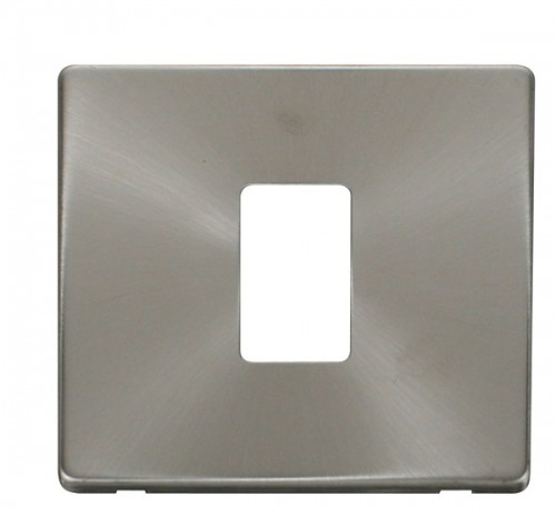 Click Definity Brushed Stainless Cover Plates
