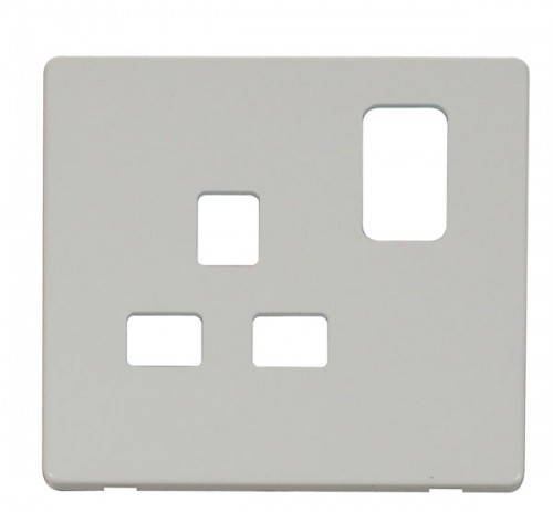 Click Definity Polar White Socket Outlet Cover Plates