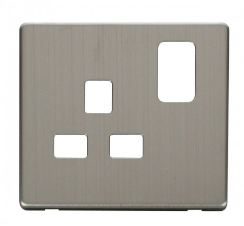 Scolmore Click Definity Stainless Steel Cover Plates