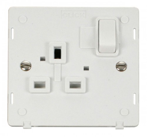 Click Definity Polar White Socket Outlet Inserts