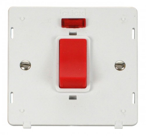Click Definity Polar White Control Switches Inserts