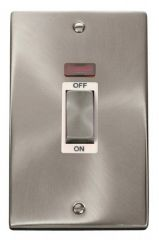 Scolmore Click Deco VPSC503WH 2 Gang 45A Ingot DP Switch With Neon - White