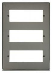 VPBN518 18 Minigrid Module Plate Black Nickel