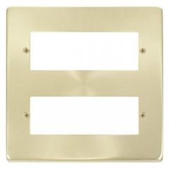 VPSB512 12 Minigrid Module Plate Satin Brass