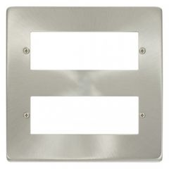 VPSC512 12 Minigrid Module Plate Satin Chrome