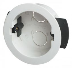 Scolmore Click WA108P Round Ceiling 34mm Deep Dry Lining Box