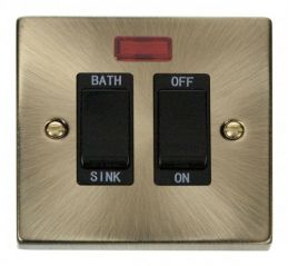 Scolmore Click Deco VPAB024BK 20A DP Sink/Bath Switch - Black