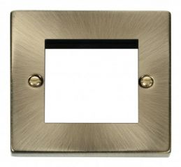 Scolmore Click Deco VPAB311 Single Plate - Twin Media Module Aperture