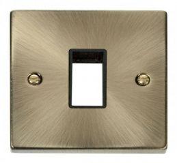 Scolmore Click Deco VPAB401BK 1 Gang Plate Single Aperture - Black