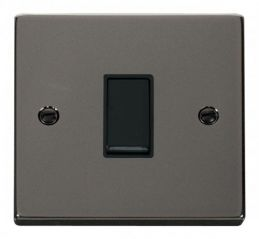 Scolmore Click Deco VPBN011BK 1 Gang 2 Way 10AX Switch