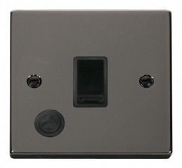 Scolmore Click Deco VPBN022BK 20A 1 Gang DP Switch With Flex Outlet