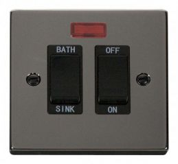 Scolmore Click Deco VPBN024BK 20A DP Sink/Bath Switch