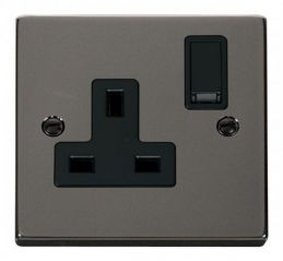 Scolmore Click Deco VPBN035BK 1 Gang 13A DP Switched Socket Outlet