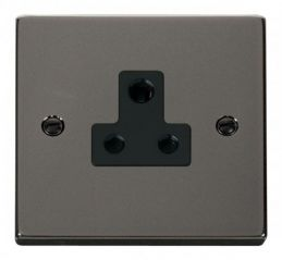 Scolmore Click Deco VPBN038BK 5A Round Pin Socket Outlet