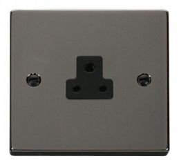 Scolmore Click Deco VPBN039BK 2A Round Pin Socket Outlet