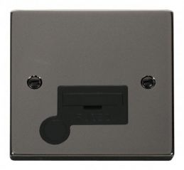 Scolmore Click Deco VPBN050BK 13A Fused Connection Unit With Flex Outlet