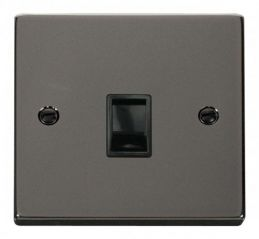 Scolmore Click Deco VPBN115BK Single RJ11 Socket (Ireland/USA)