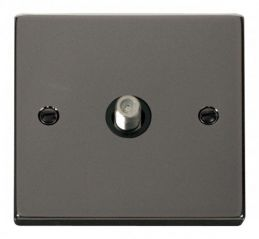 Scolmore Click Deco VPBN156BK 1 Gang Satellite Socket Outlet