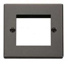 Scolmore Click Deco VPBN311 Single Plate - Twin Media Module Aperture