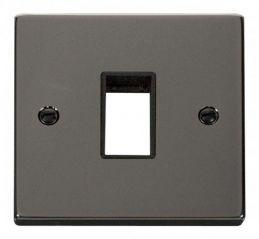Scolmore Click Deco VPBN401BK 1 Gang Plate Single Aperture