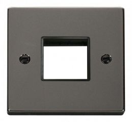 Scolmore Click Deco VPBN402BK 1 Gang Plate Twin Aperture