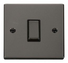 Scolmore Click Deco VPBN411BK 1 Gang 2 Way Ingot 10AX Switch