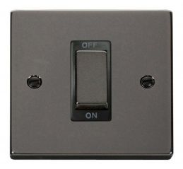 Scolmore Click Deco VPBN500BK 1 Gang 45A Ingot DP Switch