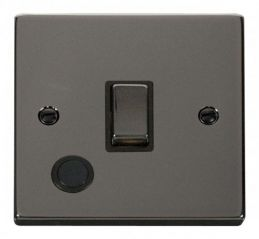 Scolmore Click Deco VPBN522BK 20A 1 Gang DP Ingot Switch With Flex Outlet