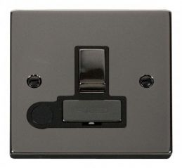 Scolmore Click Deco VPBN551BK 13A Fused Ingot Switched Connection Unit With Flex Outlet
