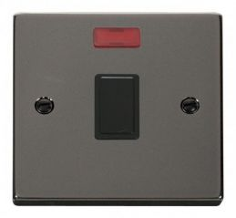 Scolmore Click Deco VPBN623BK 20A 1 Gang DP Switch + Neon