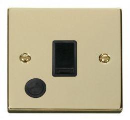 Scolmore Click Deco VPBR022BK 20A 1 Gang DP Switch With Flex Outlet - Black