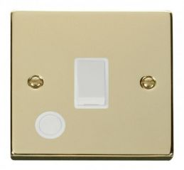 Scolmore Click Deco VPBR022WH 20A 1 Gang DP Switch With Flex Outlet - White