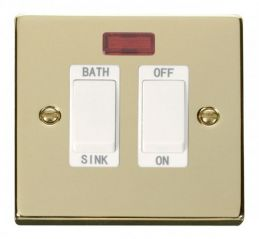 Scolmore Click Deco VPBR024WH 20A DP Sink/Bath Switch - White