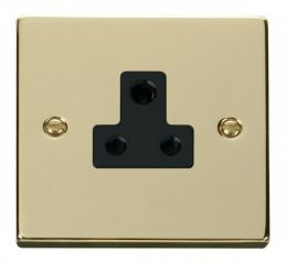 Scolmore Click Deco VPBR038BK 5A Round Pin Socket Outlet - Black