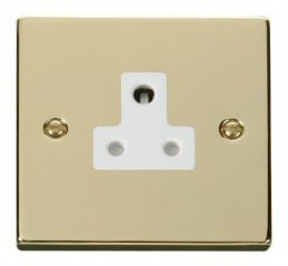 Scolmore Click Deco VPBR038WH 5A Round Pin Socket Outlet - White