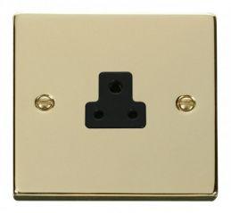 Scolmore Click Deco VPBR039BK 2A Round Pin Socket Outlet - Black