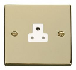 Scolmore Click Deco VPBR039WH 2A Round Pin Socket Outlet - White