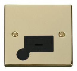 Scolmore Click Deco VPBR050BK 13A Fused Connection Unit With Flex Outlet - Black