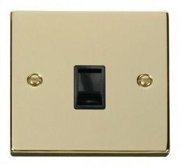 Scolmore Click Deco VPBR115BK Single RJ11 Socket (Ireland/USA) - Black