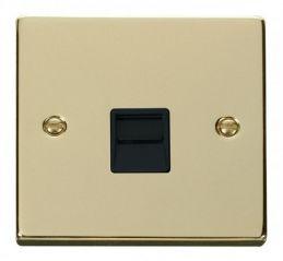Scolmore Click Deco VPBR120BK Single Telephone Socket Outlet Master - Black
