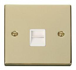 Scolmore Click Deco VPBR120WH Single Telephone Socket Outlet Master - White